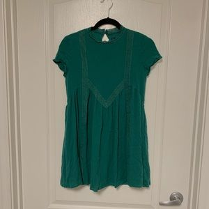 Blue Rain Olive Green High Neck Fit Flare Tunic S
